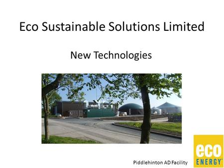 Eco Sustainable Solutions Limited