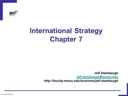 International Strategy Chapter 7