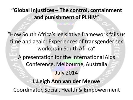 social injustices in south africa I want to share today a less well-known example of injustice with its roots in apartheid – the plight of south africa's rural poor, including the unjust and unlawful evictions of nearly one million farm dwellers in the decade after south africa adopted its new constitution in 1994.