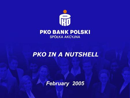 Structured Finance and Financial Institutions Department / February 2005 1 February 2005 PKO IN A NUTSHELL.