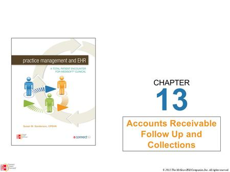 CHAPTER © 2012 The McGraw-Hill Companies, Inc. All rights reserved. 13 Accounts Receivable Follow Up and Collections.