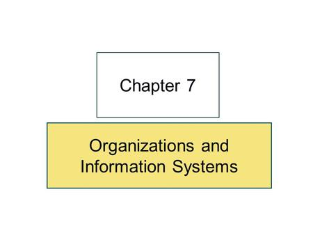 "Organizations and Information Systems Chapter 7. 7-2 ""Every Morning, I Get A Report About the Exercise Your Mother's Getting So I Can See How She's Doing."""