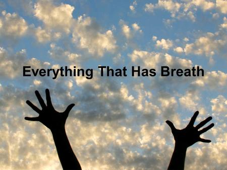 Everything That Has Breath. Let everything that, everything that everything that has breath praise the Lord.