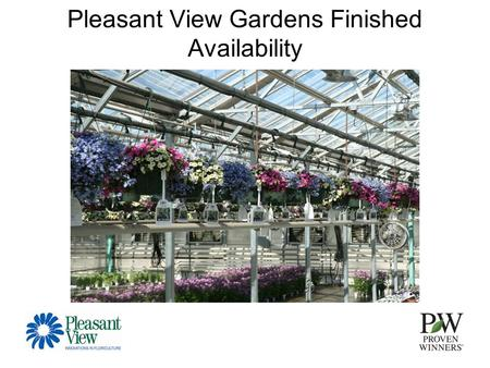 "Pleasant View Gardens Finished Availability. 10"" Combo Hangers."
