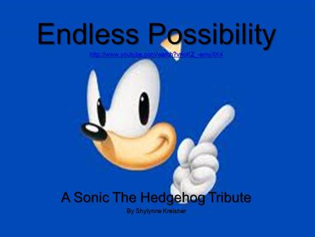 Endless Possibility   A Sonic The Hedgehog Tribute By Shylynne Kreisher.
