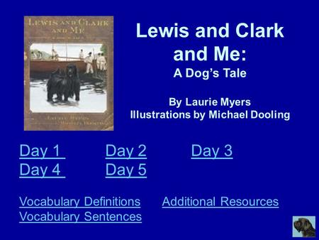 Day Day Day Day Day 5 Vocabulary Definitions      Additional Resources