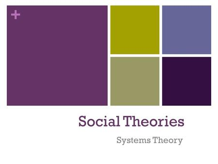 essays on family systems theory This paper looks at the significance of the ecological systems theory proposed by psychologist, urie bronfenbrenner, and its profound impact on children's development the exosystem consists of influences of those who are in the child's mesosystem, such as the workplaces of family members (voydanoff, 1995, p 63.