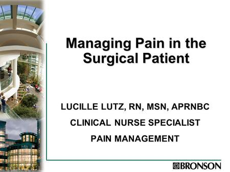 Pain Management with Non-Opioids
