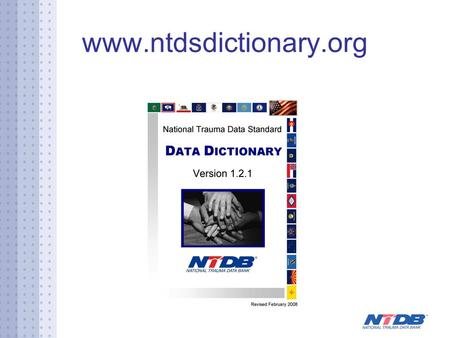 Www.ntdsdictionary.org. www.ntdbdatacenter.com Three Options Direct hospital participation Third party submits data for hospitals according to new policies.