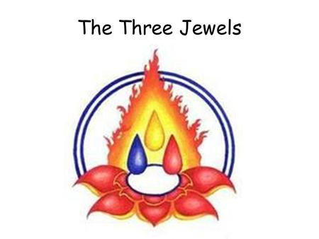 The Three Jewels. 1. What are the three Jewels? Write a short paragraph for each. 2. The three Jewels are thought of as refuges. Why would this be? Did.