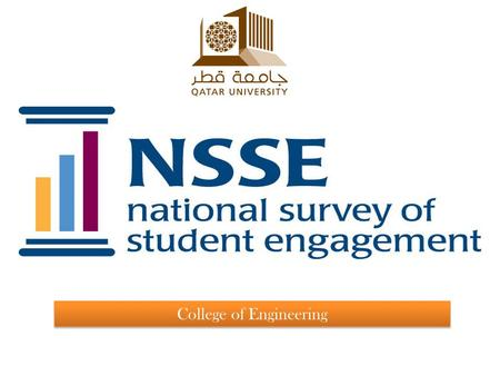 College of Engineering. Table of Contents Introduction about the National Survey of Student engagement. NSSE response rate Benchmarking areas Areas of.