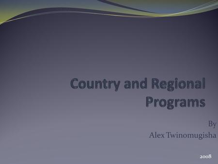 "By Alex Twinomugisha 2008. Overview GeSCI engages with countries for a long time through the regional programs with some countries occasionally ""ascending"""
