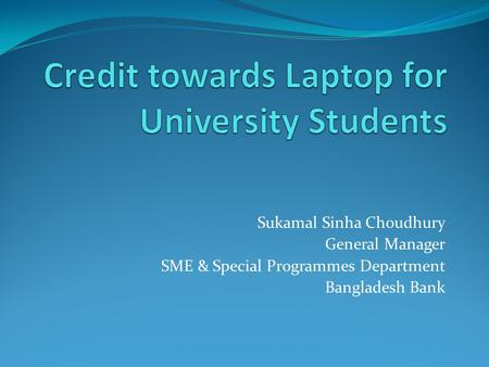 Credit towards Laptop for University Students
