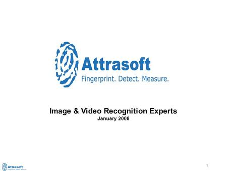 1 Image & Video Recognition Experts January 2008.