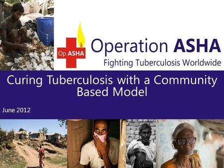 Curing Tuberculosis with a Community Based Model June 2012.