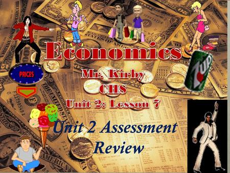 Unit 2 Assessment Review We will be using Cornell Note Taking Format Today! Relax and enjoy the ride in Econ. Class! Don't be a victim….. Own the day!