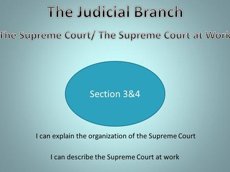 The Supreme Court/ The Supreme Court at Work