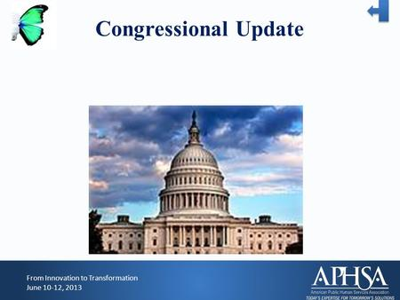 Congressional Update From Innovation to Transformation June 10-12, 2013.