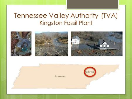 Tennessee Valley Authority (TVA) Kingston Fossil Plant Knoxville.