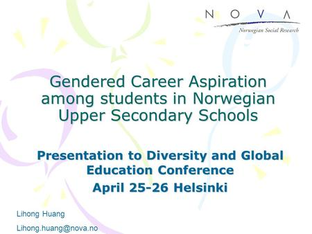 Presentation to Diversity and Global Education Conference