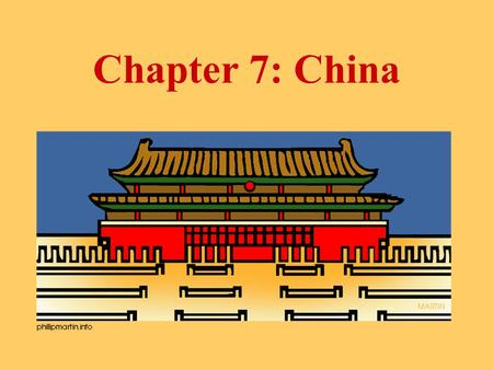 "Chapter 7: China Lesson #1 ""China's First Civilizations"""