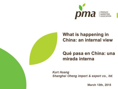 What is happening in China: an internal view