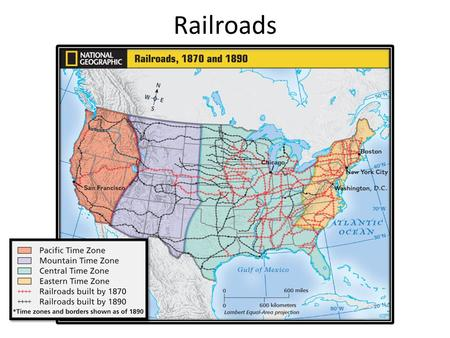 Railroads.