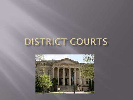  District courts have original jurisdiction, which is the authority to try a case for the first time.