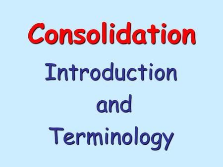 Consolidation Introduction and andTerminology. Although consolidation was not the culprit here, this is what happens when there's differential settlement.