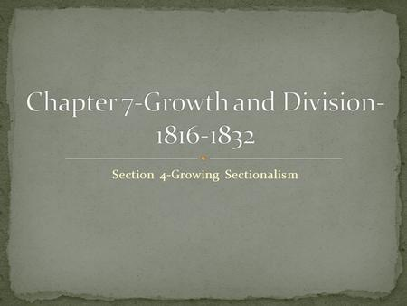 Chapter 7-Growth and Division