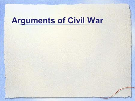 Arguments of Civil War. What was the Missouri Compromise of 1820?