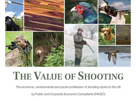 Shooting is worth £2 billion to the UK economy Shooters spend £2.5 billion each year on goods and services.