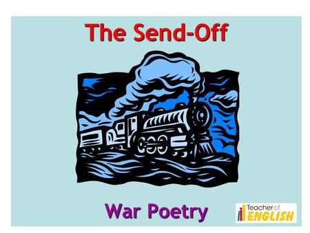 war poems comparison the send off Relevant essay suggestions for the send off + anthem for doomed youth comparison dulce et decorum est and anthem for doomed youth in the two poems these three poems are all about war they focus on different aspects and are written in very different ways.