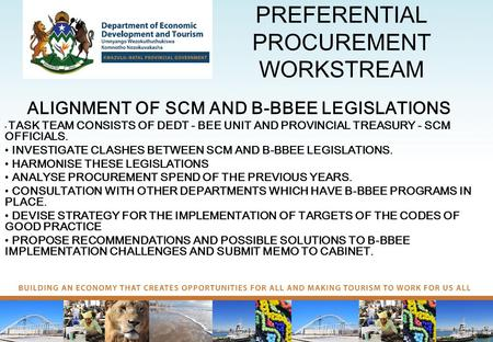 PREFERENTIAL PROCUREMENT WORKSTREAM