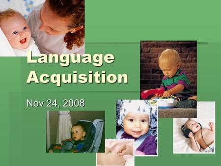 stages of first language acquisition pdf