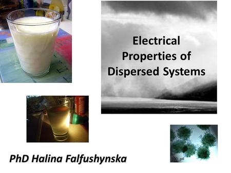 Electrical Properties of Dispersed Systems
