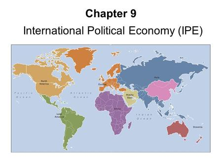 International Political Economy (IPE)