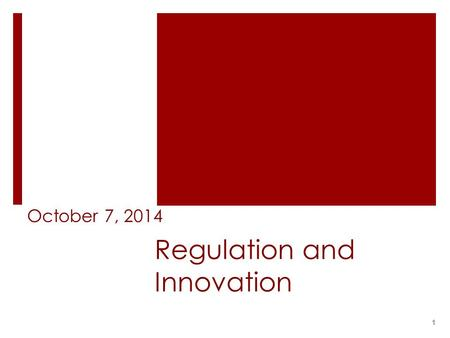 Regulation and Innovation October 7, 2014 1. Issues  The Internet is a public network ;  Net neutrality  Can it be regulated? How?  Why should it.