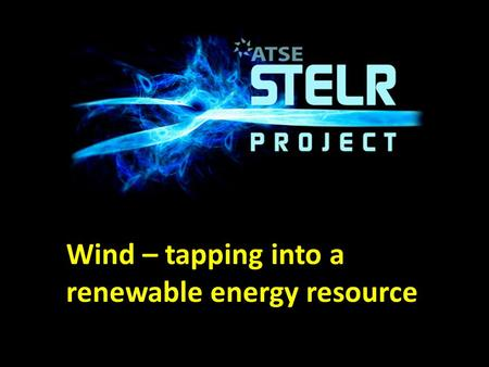 Wind – tapping into a renewable energy resource