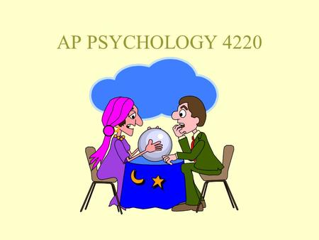 AP PSYCHOLOGY 4220. Advanced Placement Psychology 2006/2007 Slot C Lectures in Rom 110 55 minutes long; 5 classes / 7-day cycle. Text for the course:
