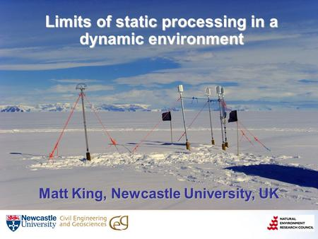 Limits of static processing in a dynamic environment Matt King, Newcastle University, UK.
