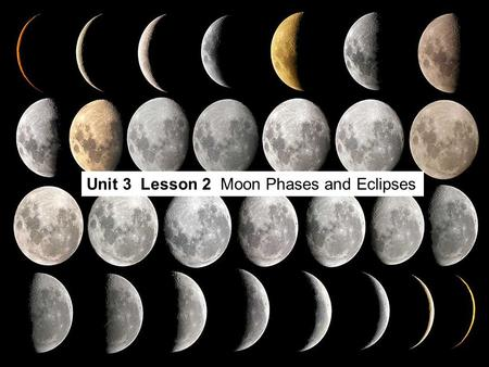 Unit 3  Lesson 2  Moon Phases and Eclipses