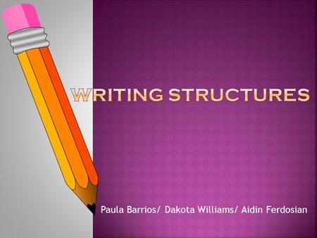 Paula Barrios/ Dakota Williams/ Aidin Ferdosian. Quotes: Short works/work within a long work Titles of poems, short stories, essays, and other short pieces.