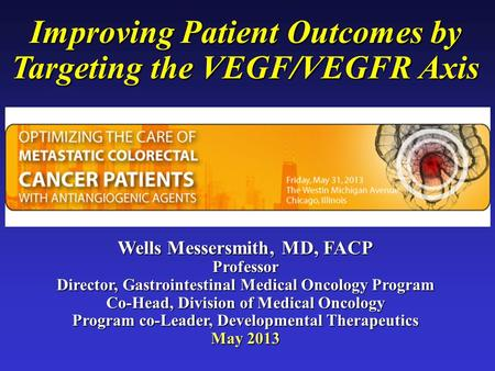 Improving Patient Outcomes by Targeting the VEGF/VEGFR Axis