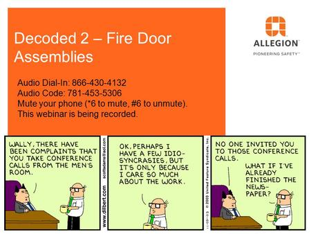 Decoded 2 – Fire Door Assemblies