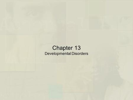 Chapter 13 Developmental Disorders