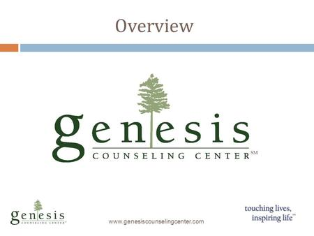 Overview www.genesiscounselingcenter.com. Services for Autism Spectrum www.genesiscounselingcenter.com Assessment: Best Practice Testing for Autism, ADHD,