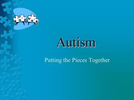 Autism Putting the Pieces Together. Visual Structure Definition: The process of incorporating concrete visual cues into a task or activity. Purpose: To.