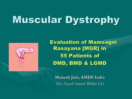 Muscular Dystrophy 55 Patients of DMD, BMD & LGMD