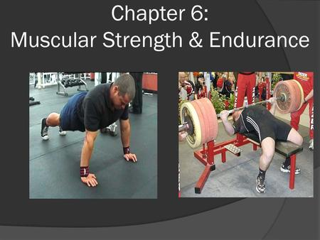 Chapter 6: Muscular Strength & Endurance. Muscular Strength and Endurance Defined  Muscular strength The ability of a muscle or muscle groups to exert.